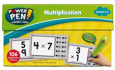 Power Pen Learning Cards: Multiplication, Grades 2-5   -