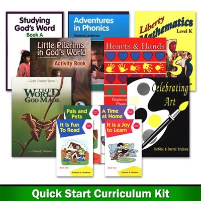 Homeschool Reviews/Home School, Inc. Kindergarten Quick Start Curriculum Kit  -