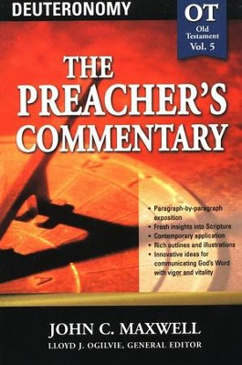 The Preacher's Commentary Vol 5: Deuteronomy   -     By: John C. Maxwell