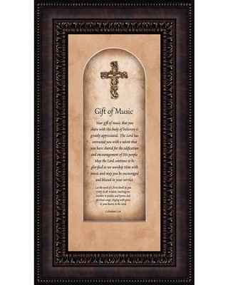 Gift of Music, Colossians 3:16, Framed Art  -