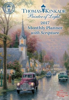 2017 Painter of Light Monthly Pocket Planner Calendar  -     By: Thomas Kinkade
