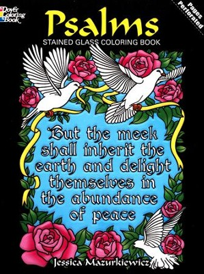 Psalms Stained Glass Coloring Book  -     By: Jessica Mazurkiewicz