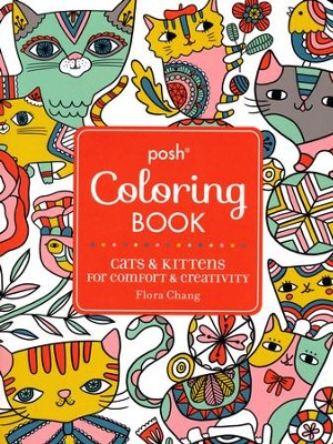Cats Adult Coloring Book  -     By: Deborah Muller