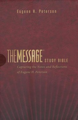 The Message Study Bible, Burgundy Imitation Leather   -     By: Eugene H. Peterson
