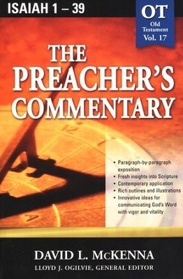 The Preacher's Commentary Vol 17: Isaiah 1-39   -     By: David L. McKenna