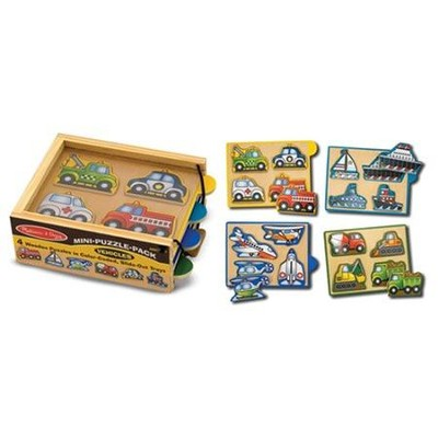 Vehicles Mini-Puzzle Pack  -     By: Melissa & Doug