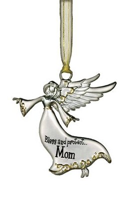 Bless and Protect... Mom Guardian Angel Ornament  -