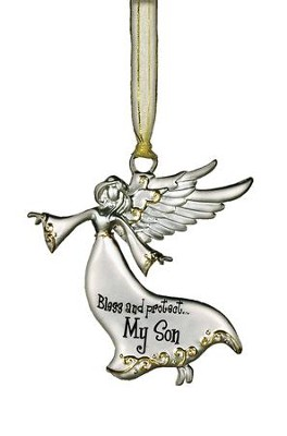 Bless and Protect... My Son Guardian Angel Ornament  -