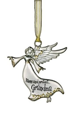 Bless and Protect... Grandma Guardian Angel Ornament  -