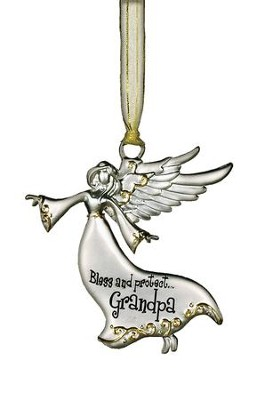 Bless and Protect... Grandpa Guardian Angel Ornament  -
