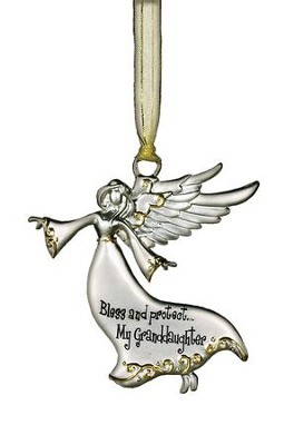 Bless and Protect... My Granddaughter Guardian Angel Ornament  -