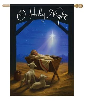 O Holy Night Flag, Large  -     By: Alan Lathwell