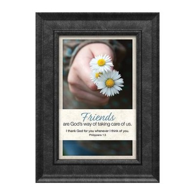 Friends are God's Way of Taking Care of Us, Philippians 1:3, Framed Art  -