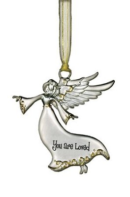 You Are Loved Guardian Angel Ornament  -