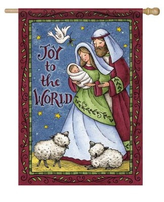 Joy To the World Flag, Large  -     By: Tina Wenke