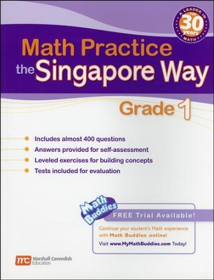 Math Practice the Singapore Way Grade 1   -