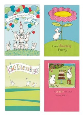 Birthday, Really Woolly Cards, Box of 12  -
