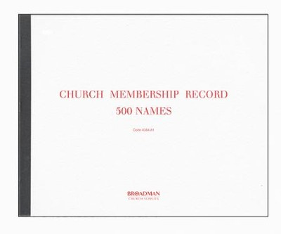 Church Membership Record Book, M-1   -