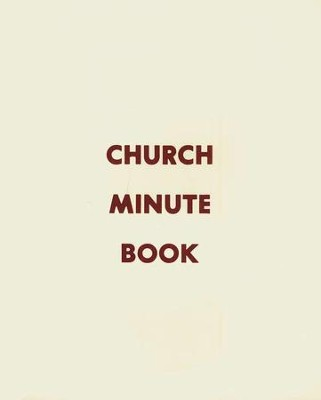 Church Minute Book  -