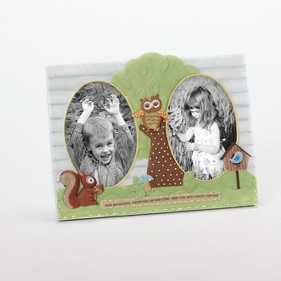 Baby Owl Double Photo Frame  -
