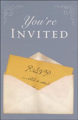 You're Invited (KJV), Pack of 25 Tracts   -     By: Good News Publishers