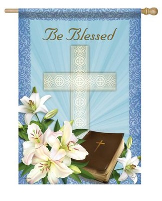 Be Blessed Easter, Large Flag  -     By: Sinead Jones