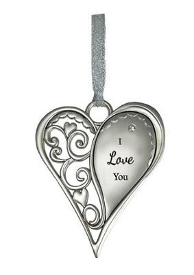 I Love You Heart Ornament  -
