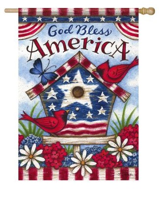 God Bless America, Large Flag  -     By: Tina Wenke