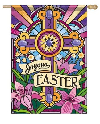 Joyous Easter, Large Flag  -     By: Jeff Granite