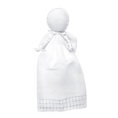 Inspirational Doll Becomes Bonnet, White  -
