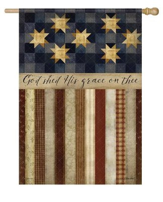 God Shed His Grace On Thee, Large Flag  -     By: Beth Albert