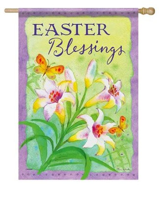 Easter Blessings, Large Flag  -     By: Tina Wenke