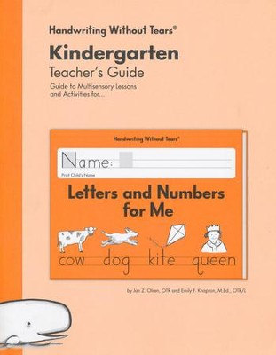 Letters and Numbers for Me Teacher's Guide, Grade K, Updated Edition   -