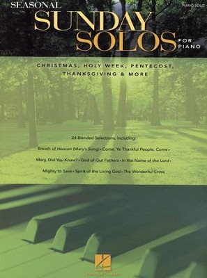 Seasonal Sunday Solos for Piano (Piano Solo)   -