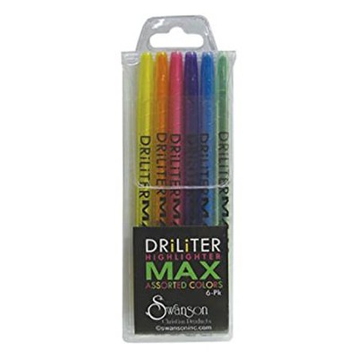 DriLiter Max Highlighters, Pack of 6   -