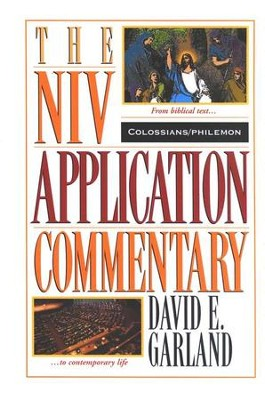 Colossians philemon niv application commentary nivac david e colossians philemon niv application commentary nivac by david fandeluxe