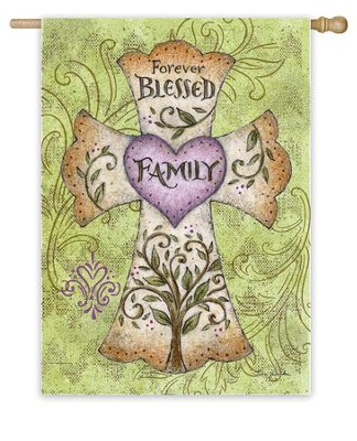 Forever Blessed Family Flag, Large  -