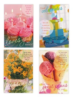 Birthday, Sweets Cards, Box of 12  -