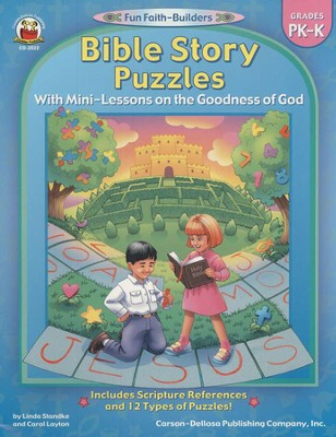 Bible Story Puzzles with Mini-Lessons on the Goodness of God Grades PK-K  -     By: Linda Standke, Carol Layton