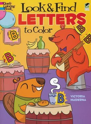 Look & Find Letters to Color  -     By: Victoria Maderna