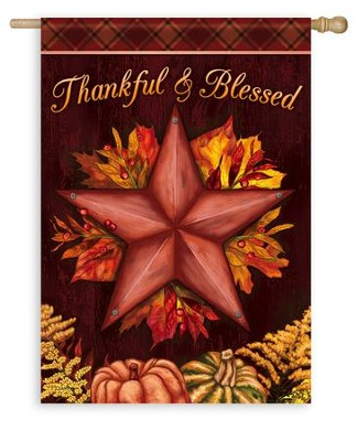 Thankful & Blessed Flag, Large  -     By: Todd Rivers