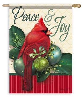 Peace & Joy, Large Flag  -     By: Jean Plont
