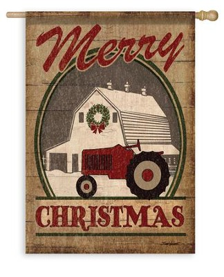 Merry Christmas, Farm Flag, Large  -     By: J. Todd Williams