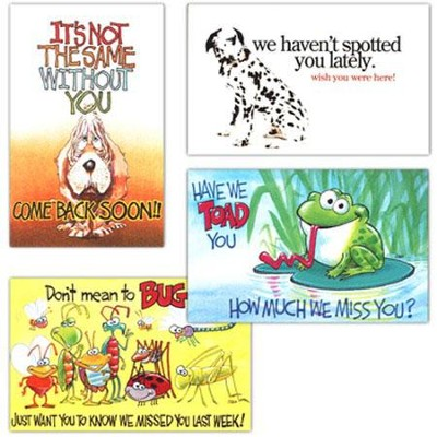 Kids Absentee: Value Pack Postcards, 100               -