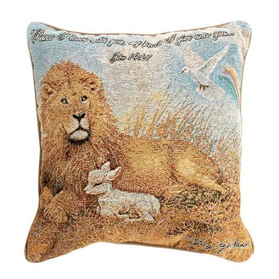Lion and Lamb Pillow  -