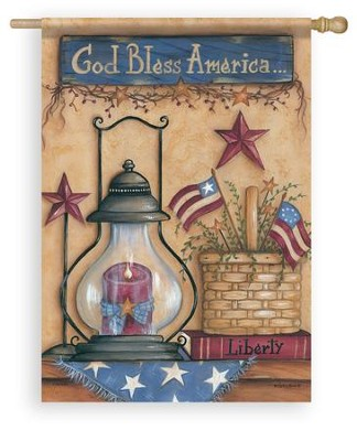 God Bless America, American Still Life, Flag, Large  -     By: Mary Ann June