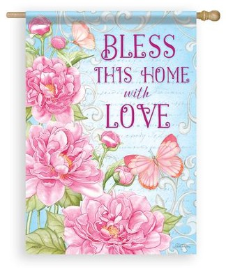 Bless This Home With Love, Large Flag  -     By: Nicole Tamarin
