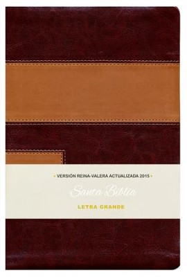 Biblia RVA 2015 Letra Grande, Imitacion Piel, Dos Tonos (Large Print, Imitation Leather, Two-Tone)  -