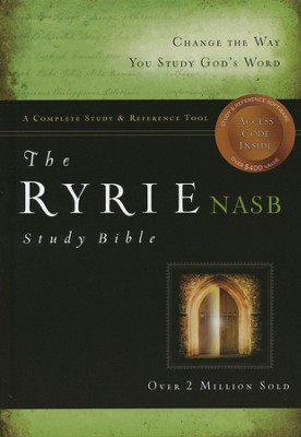 NAS Ryrie Study Bible Hardcover, Thumb-Indexed   -