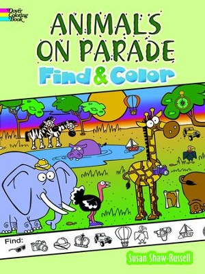 Animals on Parade Find and Color  -     By: Susan Shaw-Russell